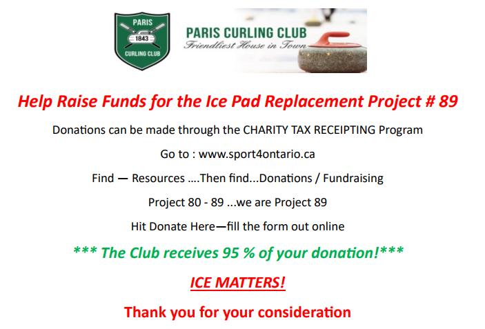 paris curling club charity tax receipt program